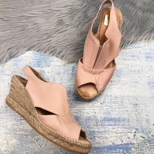 Kanna Soft Leather Espadrille Wedge Sandals
